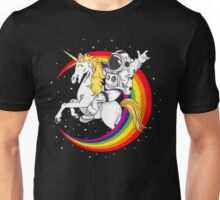 Astronaut riding unicorn death metal Unisex T-Shirt