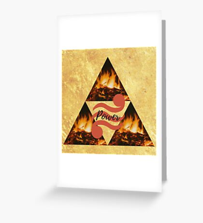 Triforce of Power, Din's Fire Greeting Card