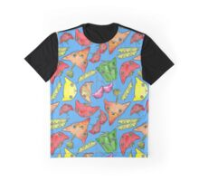 """Oro?"" Fruits & Veggies-Blue Graphic T-Shirt"