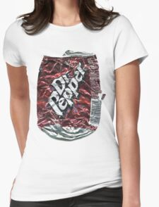 Crushed Dr Pepper Tin Womens Fitted T-Shirt