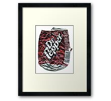 Crushed Dr Pepper Tin Framed Print