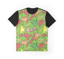 """""""Oro?"""" Fruits & Veggies-Green Graphic T-Shirt"""