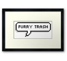 Furry Trash Speech Bubble Framed Print