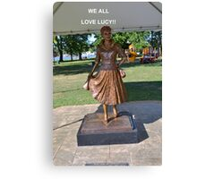 Lucille Ball Statue. Canvas Print