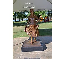 Lucille Ball Statue. Photographic Print