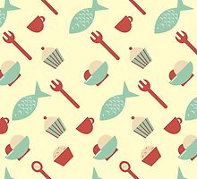 Food seamless pattern by Xinnie