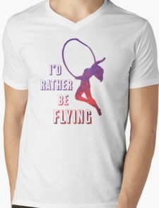 I'd Rather Be Flying, aerial dance design, sunset Mens V-Neck T-Shirt