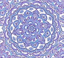 Lilac Spring Doodle Flower by micklyn