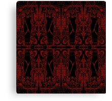 Egyptian Priests and Cobras in Black and Red II  Canvas Print