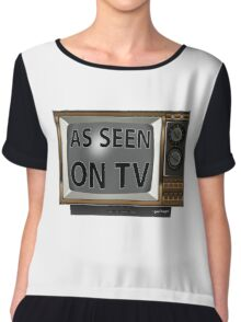 As Seen on TV Vintage  Funny Design  Chiffon Top