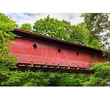 Newfield Covered Bridge - New York Photographic Print