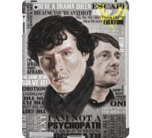 Sherlock TV Series Favourite Quotes iPad Case/Skin