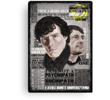 Sherlock TV Series Favourite Quotes Canvas Print
