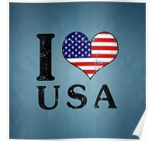 I LOVE USA (black) Poster