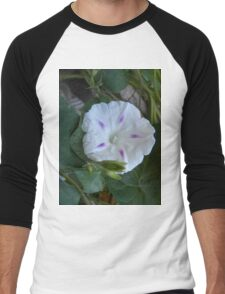 White Morning Glory Men's Baseball ¾ T-Shirt