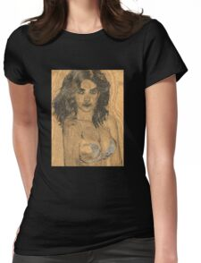 Girl Painting Womens Fitted T-Shirt