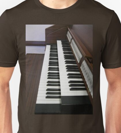 Pulling Out All The Stops - Organ Keyboards and Stops Unisex T-Shirt