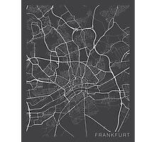 Frankfurt Map, Germany - Gray Photographic Print