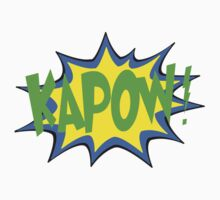 Kapow! Comic Cartoon Graphic Logo White Limited Edition T-Shirt by xmerchandise