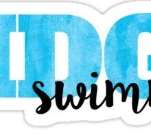 Ridge Swimming Watercolor Sticker
