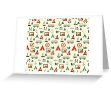 Simple abstract seamless tourist pattern Greeting Card