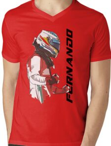 Fernando Alonso Mens V-Neck T-Shirt