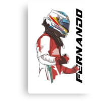 Fernando Alonso Canvas Print