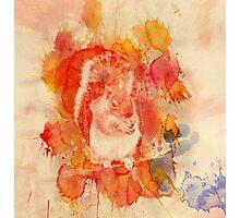 Waterolor Squirrel Photographic Print