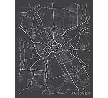 Hanover Map, Germany - Gray Photographic Print