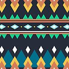 Colorful bright tribal print by Xinnie