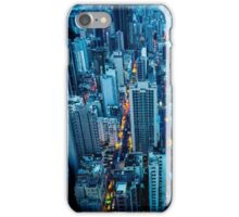 Hong Kong downtown at night iPhone Case/Skin