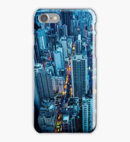 Hong Kong downtown at night iPhone Case/Skin