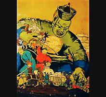 Communist Propaganda Poster Mongolian Juggernaut Mens V-Neck T-Shirt