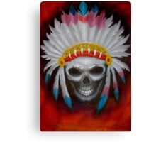 american indian chief skull Canvas Print
