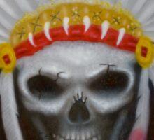 american indian chief skull Sticker