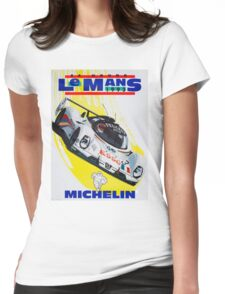 """""""LE MANS"""" Vintage Grand Prix Auto Racing Print Womens Fitted T-Shirt"""