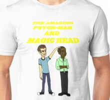 The Amazing Psych-Man and Magic Head Unisex T-Shirt