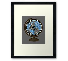 Global Cyclist (blue) Framed Print