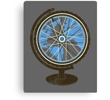 Global Cyclist (blue) Canvas Print