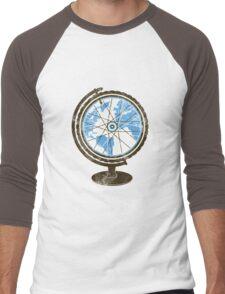 Global Cyclist (blue) Men's Baseball ¾ T-Shirt