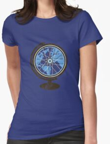 Global Cyclist (blue) Womens Fitted T-Shirt