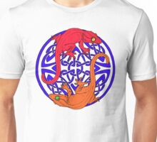 Celtic Crested Geckos In Blue With red and Orange geckos (white background) Unisex T-Shirt