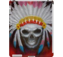 american indian chief skull iPad Case/Skin
