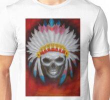 american indian chief skull Unisex T-Shirt