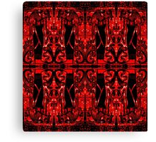 Egyptian Priests and Cobras in Red and Black II  Canvas Print