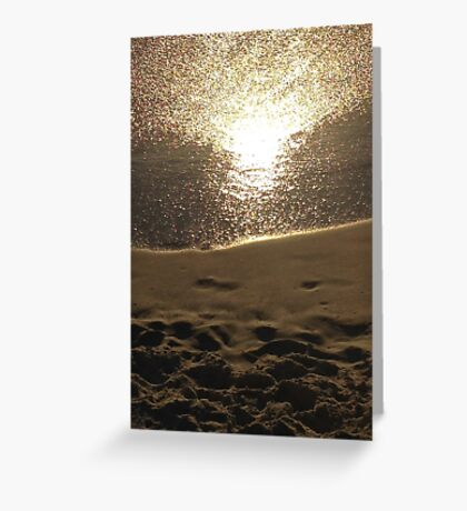 Silver Sunset Greeting Card
