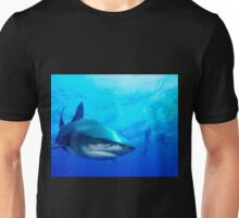Close Shark with Scuba Diver Unisex T-Shirt