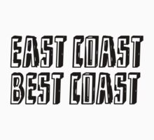 Funny quote: EAST COAST One Piece - Short Sleeve