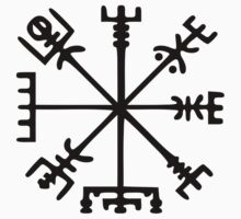 Vegvísir (Viking Compass) Kids Clothes