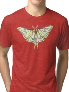 Green Moth Tri-blend T-Shirt